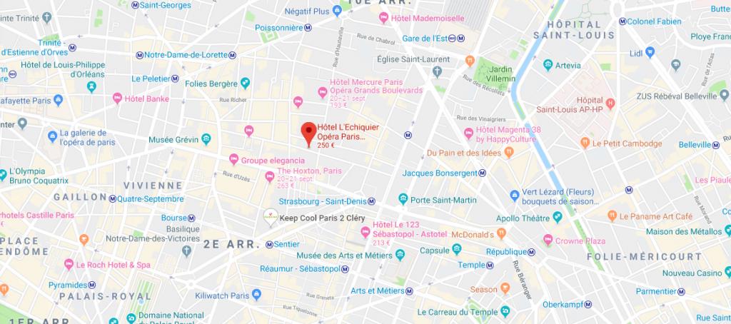 Adresse BIMCO Hôtel L'Echiquier Opéra Paris - MGallery Collection 38 Rue de l'Échiquier,  75010 Paris