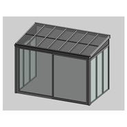 Solar greenhouse with sliding door 2m - bim