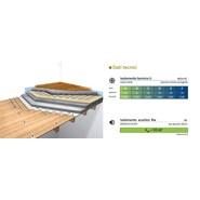 Wooden floor reinforced slab  with floating floor with Ekosol N G3 touch - bim