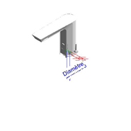 Grifo electrónico mezclador de lavabo: PRESTO ELEC - LM - bim