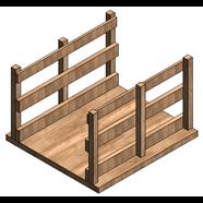 Pasarela madera - bim