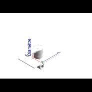 ZIP - Monomando ducha empotrado 2 vías - bim