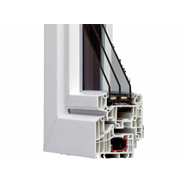HX95 reinforced PVC thermal break 1 swing 950x2300 - bim