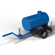 Trailer mounted water tanker - bim