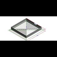 DBQ (Painted four-way square diffusers) - bim