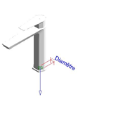 AROHA - Washbasin mixer medium tap - bim