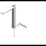 AROHA - Monomando lavabo alto repisa - bim