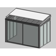 Solar greenhouse with curtain 2.5m - bim