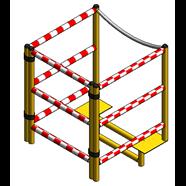 Barandilla seguridad metálica - bim