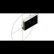 Registro motorizada retangular de grelha-CPRR MTE - bim