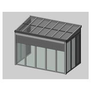 Solar greenhouse with sunshades 4m - bim