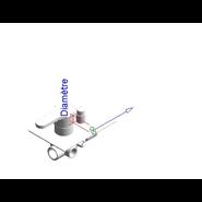 ZIP - Monomando ducha empotrado 3 vías - bim