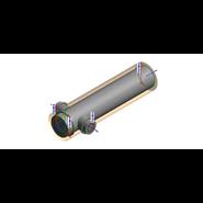 Té 2*93° aluzinc A180° - 1000 mm - Double débouchure - bim