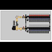 Distribution manifolds with integrated pump unit - bim