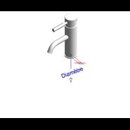 THEO CITY - Monomando lavabo repisa caño curvo con desague - bim