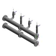Hydraulic manifold kit DN 100 for 2 VICTRIX PRO 80/100/120 ErP in cascade - bim
