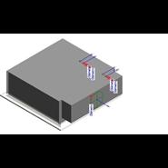 WAAB 4 WAY (Active chilled beam with 4-way) - bim
