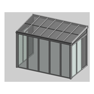 Solar greenhouse side opening 2m - bim