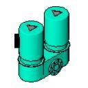 Inline circulation pump with standard motor double Flange DIN - bim