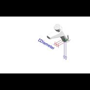 Grifo temporizado mezclador: PRESTO XT 105 - LM - bim