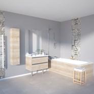 Meuble salle de bain INFINITI tiroirs Prises de main - bim
