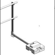 Barrial autoporté standard montant droit - bim