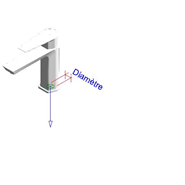 AROHA - Monomando lavabo repisa - bim