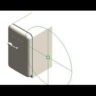 Refrigerators FAB10HRNE - Posição das dobradiças: Dobradiças à direita - bim