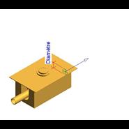 Toilet built-in fluxor timed double discharge: PRESTO XT IE 2D With a stopcock - bim