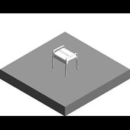 ARSIS shower stool, White - bim