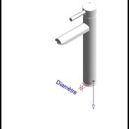THEO CITY - Monomando lavabo alto repisa sin desague - bim