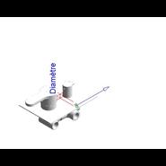 ZIP - Monomando ducha empotrado 1 vía - bim